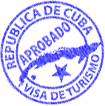Cuba entry stamp.